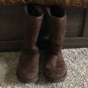 Tall Chocolate Ugh Boots